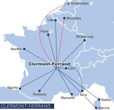 Accès à Clermont-Ferrand